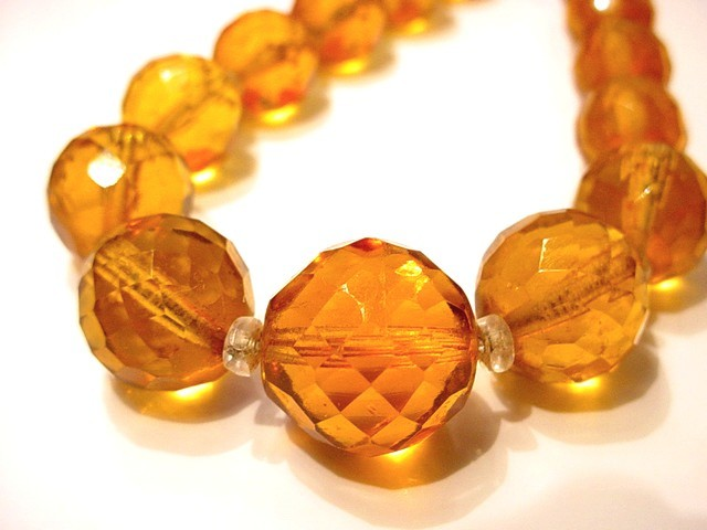 Red Carpet Worthy Red Juliana Necklace Amber Cut Crystal