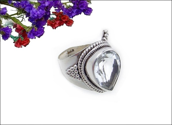 White Gold Antique Ring Opal 10k 14k