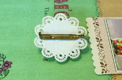 Antique celluloid brooch