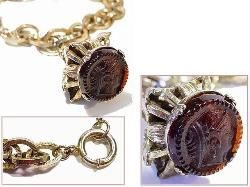 Antique charm fob bracelet