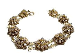 Bold & Glitzy! This brilliant antique rs bracelet makes a statement of love