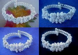 Antique Miriam Haskell Milk Glass Bracelets