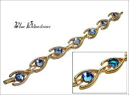 Lighter weight blue rs golden stylish bracelet