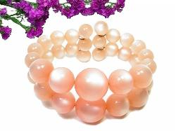 Peachy Moonglow Wrap Bracelet