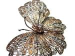 Large Antique Butterfly Brooch Pin