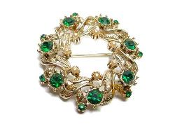 Wreath Pin Brooch