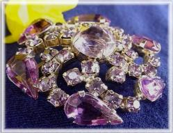 Magnificent For Any Special Occasion | Huge Pinks Antique Brooch