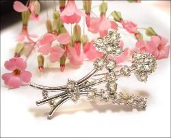 Flower Stem Vintage Brooch | Tall