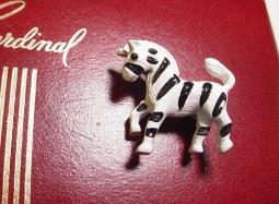 Zebra Figural Pin Signed Gerrys