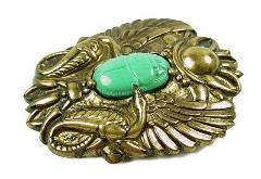 Egyptian Scarab Golden Pin