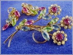 Matching Brooch & Earrings Juliana Brooch Set