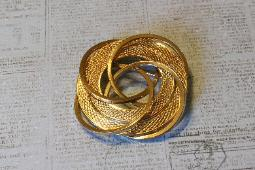 Abstract Gold Brooch