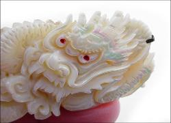 Deeply Carved Mother Of Pearl Dragon