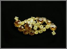 Tiered RS Vintage Brooch