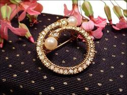 Vintage Circular Paved with Pearl Terminals