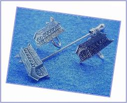 Covered Bridge Earrings and Matching Stick Pin
