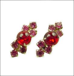 Reds and Pinks Vintage Jewelry