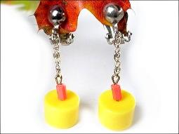 Plastic Dangle Clips Vintage Costume Jewelry