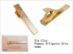 FAMOUS ALLIGATOR GRIP Men's Vintage Tie Clip