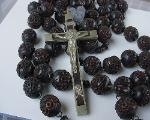 Victorian Antique Bog Oak Rosary
