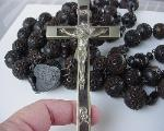 Antique Rosary | Bog Oak