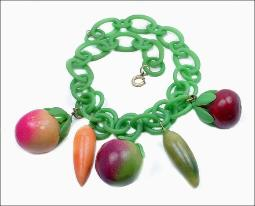 Celluloid Plastic Fruit Necklace