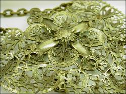 Victorian Necklace Stamped Brall Filigree
