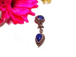 Lapis Antique Necklace Pendent