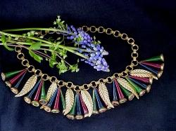 Let the bells blow with this rare Antique Maskell Haskell Bell Necklace