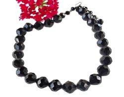 Black Faceted Vintage Necklace Signed LAGUNA