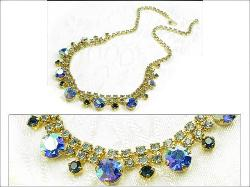 Lt Blue, Dk Blue and Royal Blue AB Rhinestone | Made in Austria