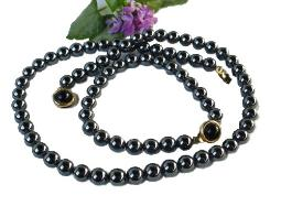 Vintage Jewelry Black Sim Necklace and Bracelet