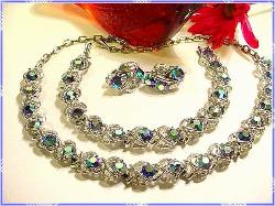 Large AB links fill this amazing Necklace Parure