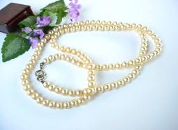 Heavy Glass Pearls Vintage Strand