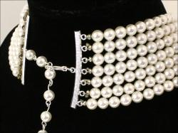 Weighty SEVEN Strands Pearl Necklace