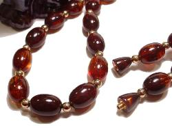 Shimmering Glass Like Lucite Amber Beads