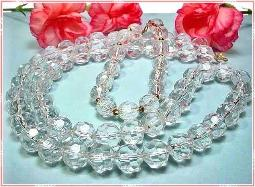 Water Look Shine with lucite crystal facet beads for those who don't want the weight