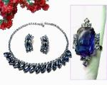 Beautiful blues necklace and earrings plus a ring thast matches but is not married to the set