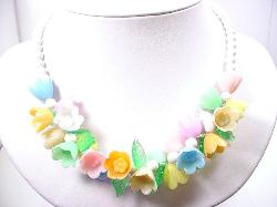 Contemporary Light Weight Floral Necklace