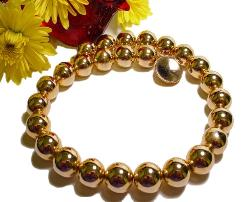 A Fine Vintage Bead Gold Jewelry