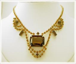 Beautiful fancy vintage amber necklace