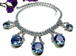 Exceptionally LARGE BLUE Stones Juliana Necklace a Masterpiede