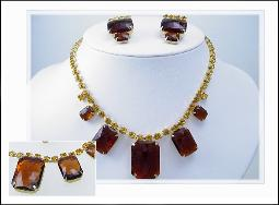 Stupendous Large Stone Necklace Set