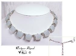 CORO Pegasus 1950 Thermoset Silvertone Necklace