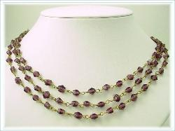 Fifty Six Inches, Purples Flapper Necklace