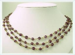 Fifty Six Inches, Flapper purple glass necklace