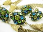Oval Orbs Decorate Necklace and Earrings