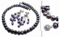 Luscious Peacock Pearls, necklace pearls are large with irregular shapes and are just stunning