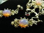 Opalescent Opal Necklace Bracelet and Earrings