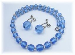Facet Blue Crystal Demi Set